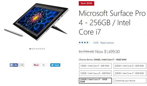 Microsoft giảm giá lên đến 300 USD cho các model Surface Pro ảnh 1