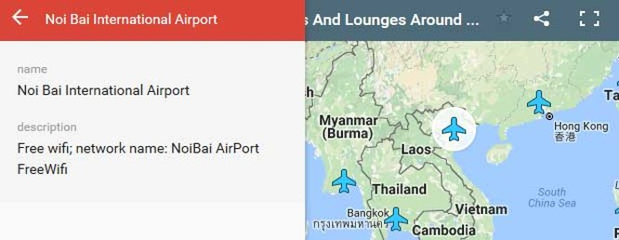 Bản đồ mật khẩu Wi-Fi của các sân bay khắp thế giới ảnh 1