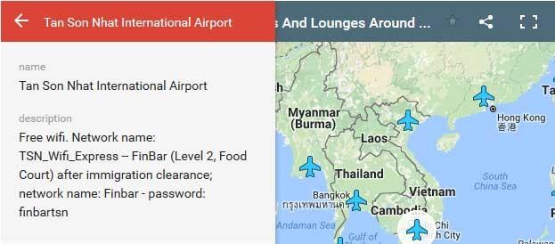 Bản đồ mật khẩu Wi-Fi của các sân bay khắp thế giới ảnh 2