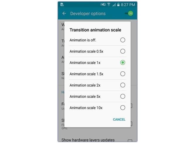 Tăng tốc smartphone Android hiệu quả bằng cách vô hiệu hóa animation ảnh 3