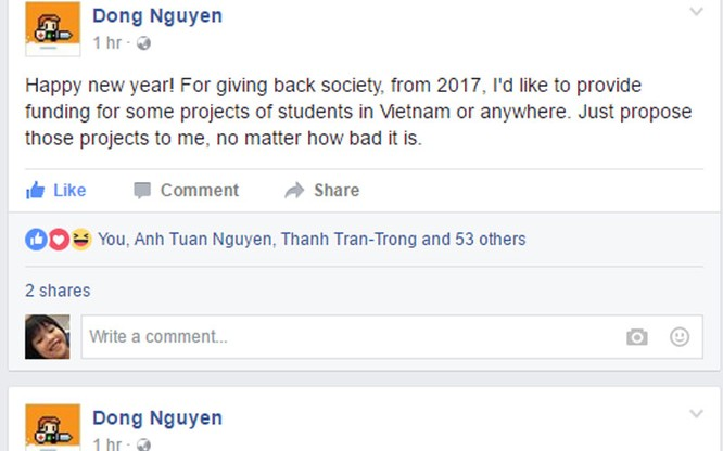 Nguyễn Hà Đông sẽ tài trợ các dự án của sinh viên ảnh 1