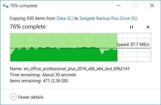 Trải nghiệm Seagate Backup Plus: ổ cứng di động 4TB, giá khá mềm ảnh 10