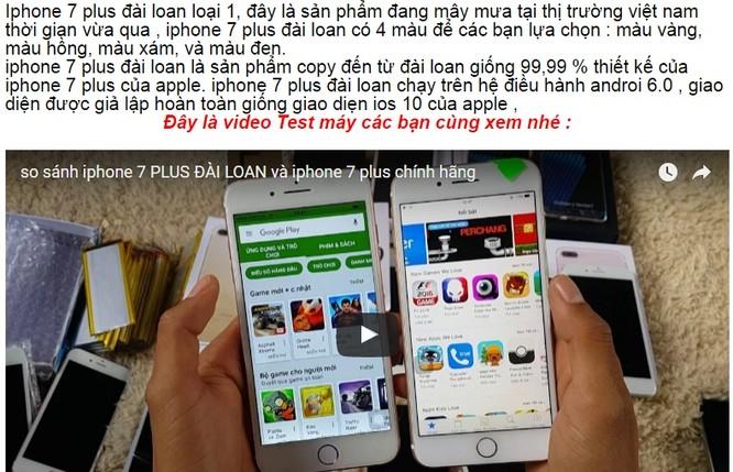 Giáp Tết, iPhone 7 hàng nhái tung hoành trên kênh bán hàng online ảnh 4