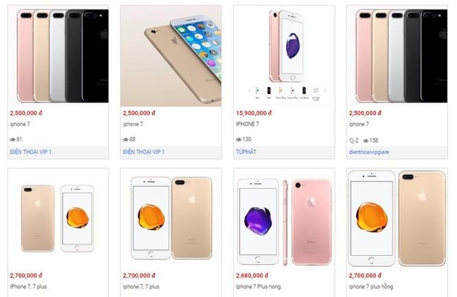 Giáp Tết, iPhone 7 hàng nhái tung hoành trên kênh bán hàng online ảnh 1