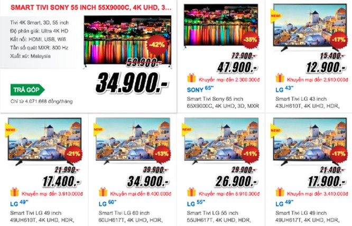 TV 4K giảm giá mạnh dịp Tết ảnh 1