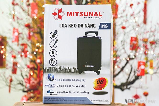 Trải nghiệm nhanh loa kéo tay hát karaoke di động, Mitsunal M8 giá 1,9 triệu đồng ảnh 1
