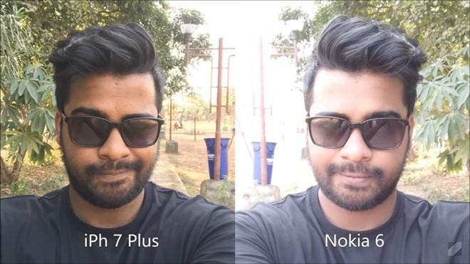 Camera trước của iPhone 7 Plus dù chỉ có độ phân giải 7 MP nhưng hoàn toàn áp đảo so với 8 MP của Nokia.