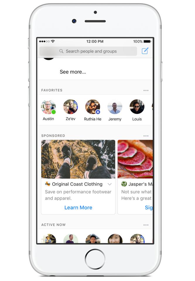 Facebook bắt đầu đưa quảng cáo vào Facebook Messenger ảnh 1