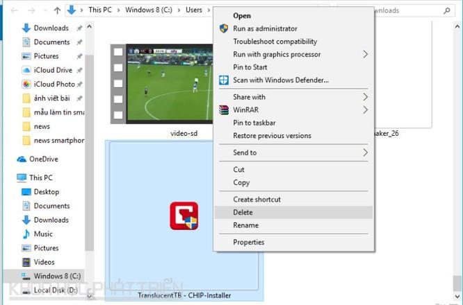 Hướng dẫn làm trong suốt thanh taskbar trên Windows 10 ảnh 1