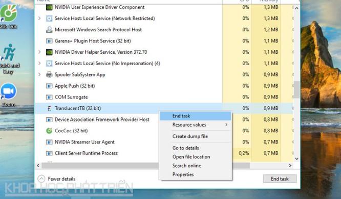 Hướng dẫn làm trong suốt thanh taskbar trên Windows 10 ảnh 3