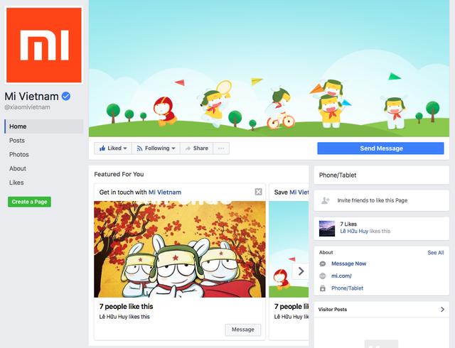 Xiaomi đã có fanpage chính thức tại Việt Nam, gửi lời chào trong status đầu tiên ảnh 1