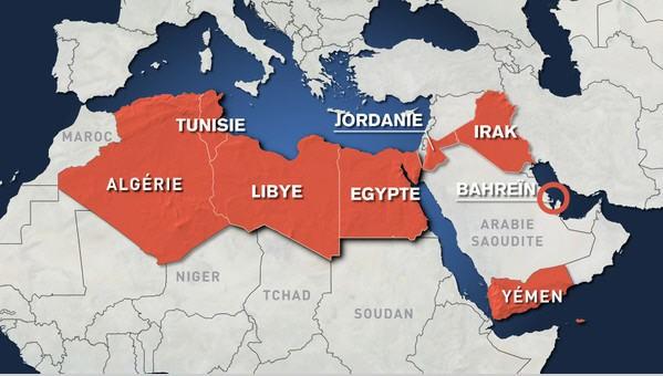 Mùa xuấn Ả rập trải dài qua nhiều nước
