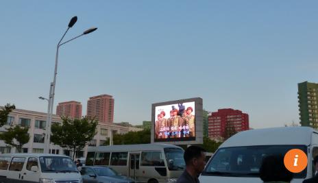 Màn hình TV lớn được lắp ở sân ga Bình Nhưỡng