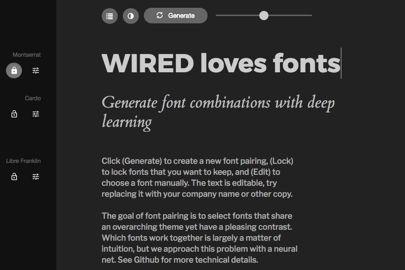 Sử dụng trí tuệ nhân tạo, một website có thể tự tạo ra các cặp font chữ theo yêu cầu của người dùng ảnh 1
