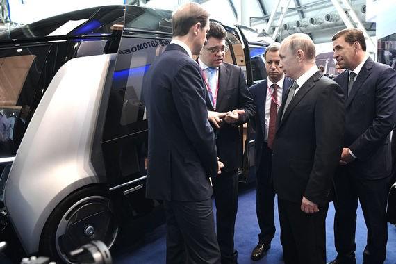 Mô hình xe buýt tự lái do hãng KAMAZ cùng các đối tác chế tạo
