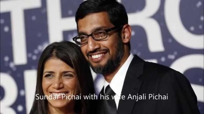 Sundar Pichai và vợ Anjali Pichai