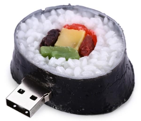 USB hình Sushi, giá 5,95 USB cho dung lượng 8GB, hoặc 8,20 USB cho dung lượng 16GB