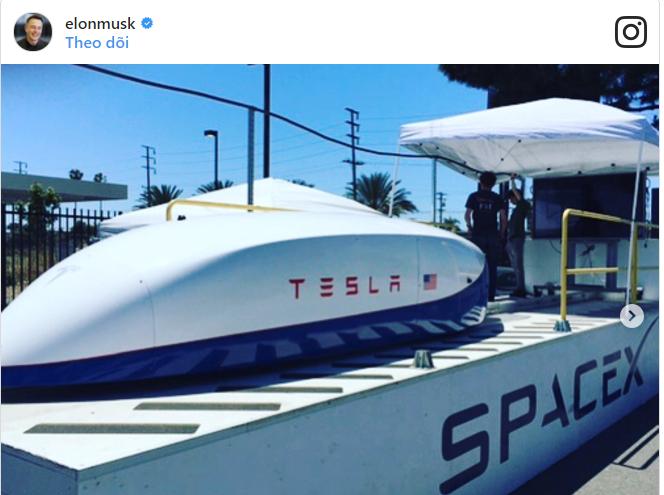 Tàu Hyperloop của Tesla gần đây đã thiết lập kỷ lục tốc độ 220 mph trên đường đua thử nghiệm tại SpaceX.