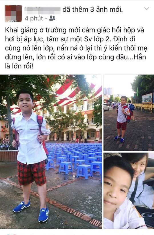 Facebook ngập tràn hình ảnh bố mẹ khoe con ngày khai giảng năm học mới - 8