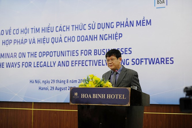 Ông Trần Văn Minh, Phó Chánh Thanh tra Bộ Văn hóa Thể thao và Du lịch cập nhật về tình hình thực thi bản quyền phần mềm tại Việt Nam