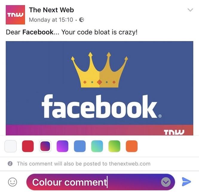 Người dùng sắp được lựa chọn màu sắc cho bình luận Facebook ảnh 1