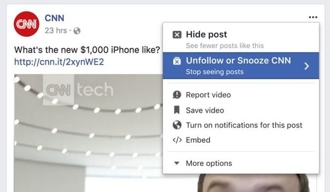 """Facebook sắp thêm tính năng cho phép tạm thời """"cạch mặt"""" bạn bè ảnh 1"""