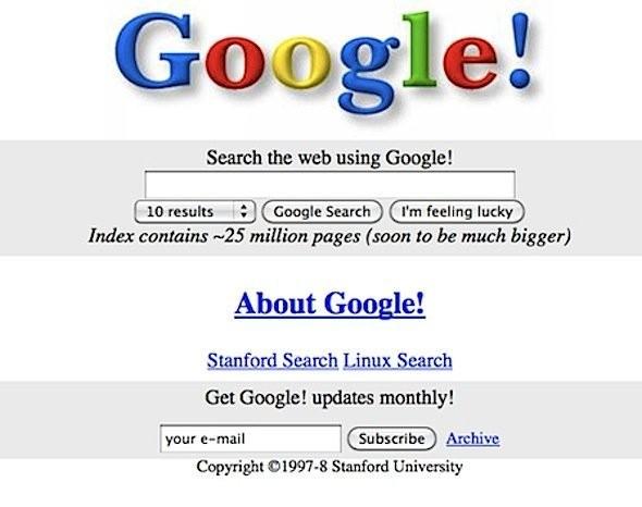Google.com được tạo ra 20 năm trước, đây là giao diện đầu tiên của nó ảnh 2
