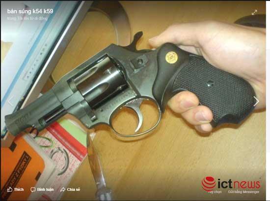 Súng đạn, thuốc nổ rao bán vô tư trên Facebook ảnh 3