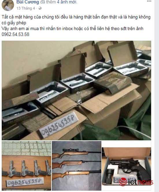 Súng đạn, thuốc nổ rao bán vô tư trên Facebook ảnh 7