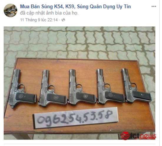 Súng đạn, thuốc nổ rao bán vô tư trên Facebook ảnh 5