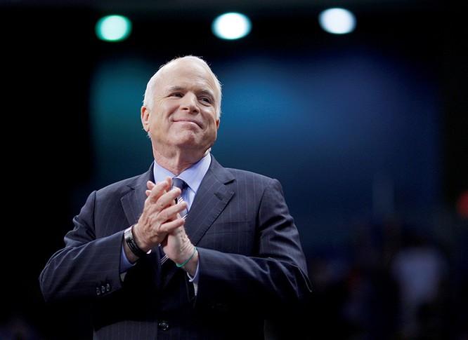 Thượng nghị sĩ Mỹ John McCain - người được chẩn đoán bị u não nguyên phát loại glioblastoma vào tháng 7/2017. Ảnh: Newsweek