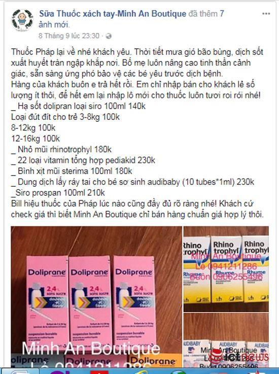 Thuốc chữa bệnh, thực phẩm chức năng trôi nổi bán tràn lan trên Facebook ảnh 6