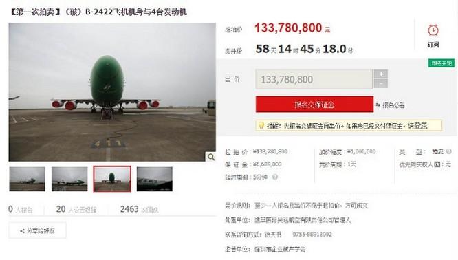 Có thể mua máy bay Boeing 747 ngay trên website... Taobao ảnh 2