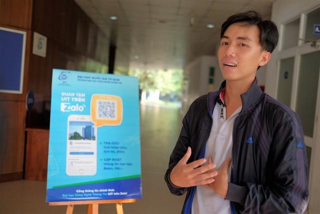 Sinh viên ĐH CNTT thích thú nhận điểm thi và lịch học trên Zalo - Ảnh 2.