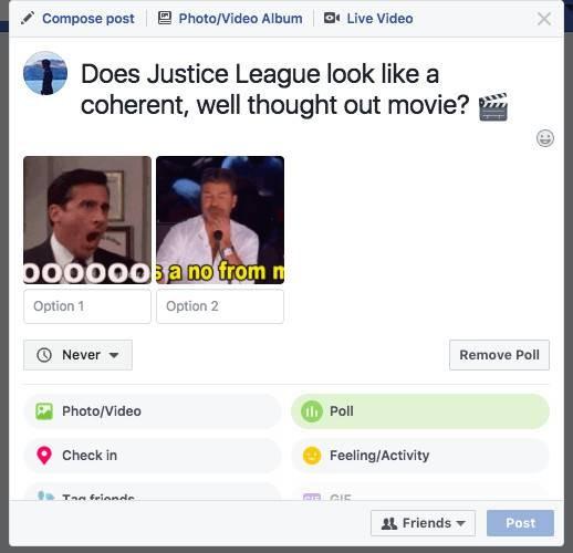 Facebook chính thức cho người dùng sử dụng tính năng tạo poll ảnh 1