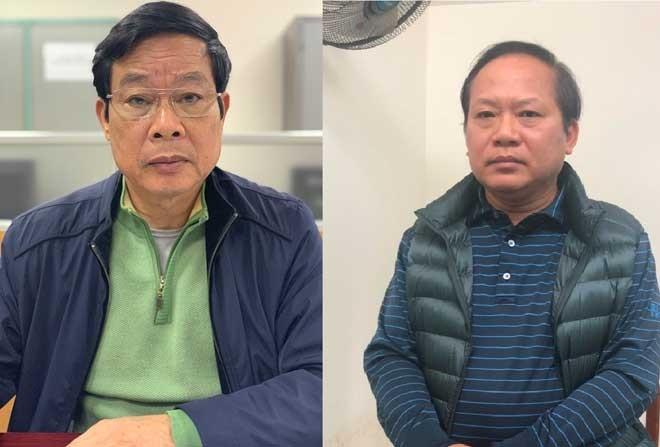 """Bị can Nguyễn Bắc Son và bị can Trương Minh Tuấn bị khởi tố bổ sung về tội """"Nhận hối lộ""""."""
