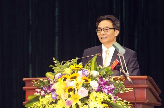 Phó Thủ tướng Vũ Đức Đam phát biểu tại lễ trao giải