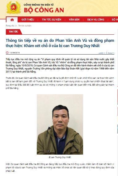 Bộ Công an khám xét nhà ông Trương Duy Nhất ở Đà Nẵng ảnh 2