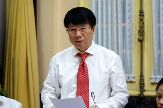 Thứ trưởng Bộ Y tế Trương Quốc Cường, người là Cục trưởng Cục Quản lý Dược giai đoạn xảy ra các vi phạm của VN Pharma (Ảnh: Hoài Vũ)