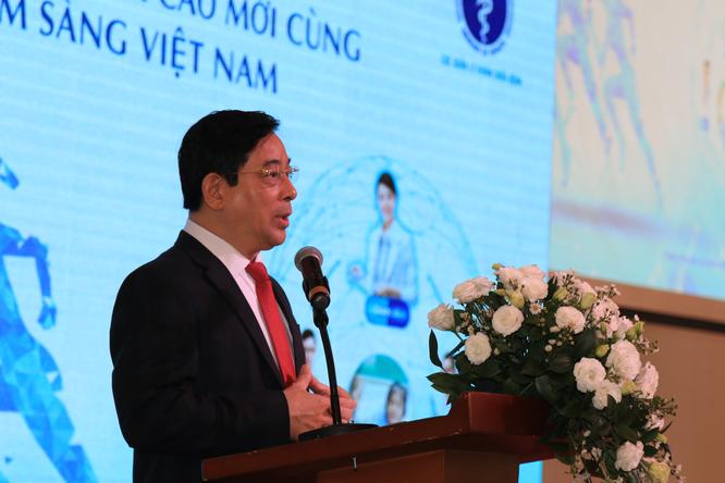 PGS.TS.BS. Lương Ngọc Khuê phát biểu tại buổi lễ