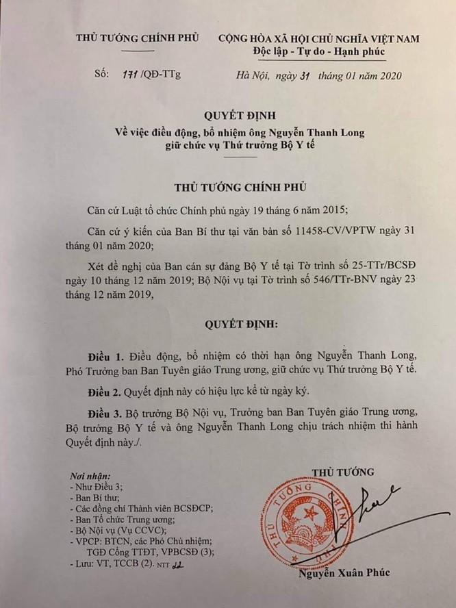 GS.TS. Nguyễn Thanh Long bất ngờ trở lại làm Thứ trưởng Bộ Y tế ảnh 1