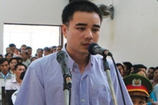 Tử tù Hồ Duy Hải trong một phiên tòa trước đây (Ảnh: Internet)