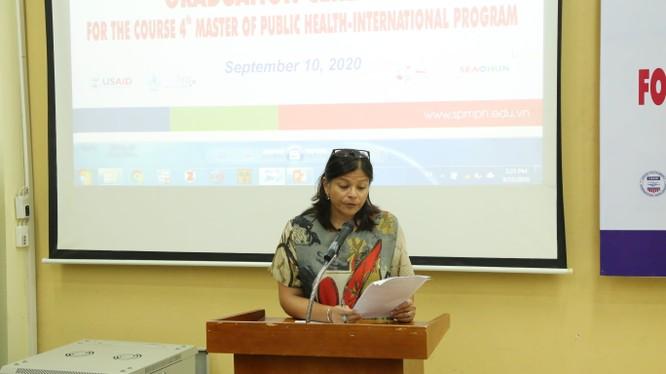 Bà Ritu Singh – Trưởng Văn phòng đại diện của USAID ở Việt Nam tự hào vì đã cùng Trường ĐHYHN đào tạo nguồn nhân lực chất lượng cao cho nhiều nước