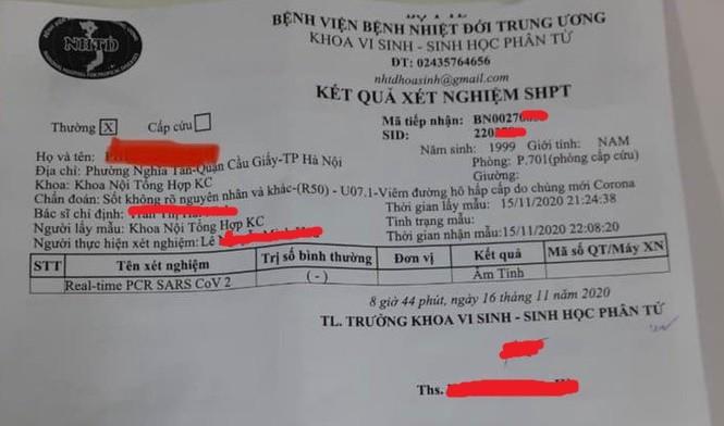 Bộ Y tế cập nhật thông tin mới nhất về trường hợp ở Hà Nội nghi mắc COVID-19 ảnh 1