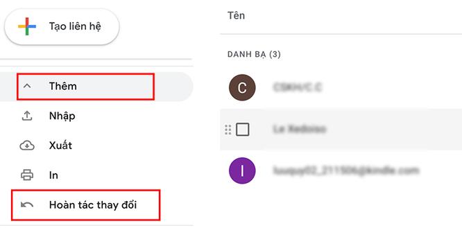 Cách khôi phục danh bạ trên Gmail và điện thoại Android ảnh 2