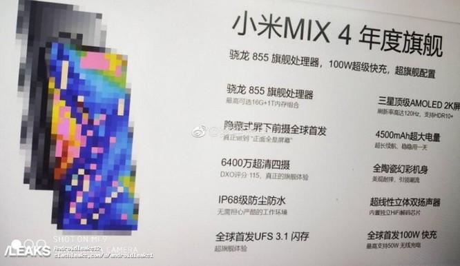 Chạy đua cấu hình ngày một khốc liệt: rò rỉ Mi Mix 4 sẽ có cấu hình khủng và sạc nhanh 100W ảnh 1