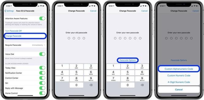 Cách đặt mật khẩu dạng ký tự để mở khóa iPhone, iPad ảnh 3