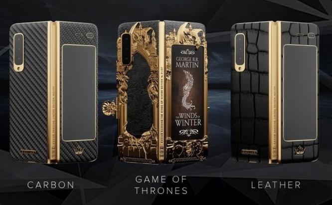 Caviar ra mắt Galaxy Fold phiên bản Game of Thrones, dát vàng xung quanh, giá iên tới 8.180 USD ảnh 2