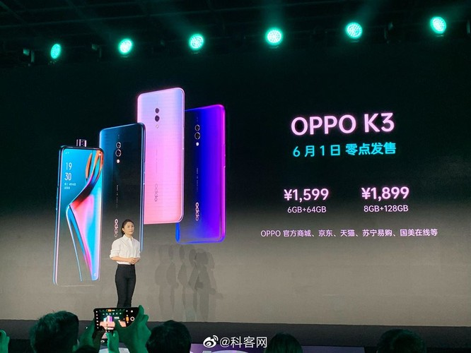 Oppo K3 ra mắt: camera thò thụt, Snapdragon 710, RAM 8GB, giá từ 231 USD ảnh 3