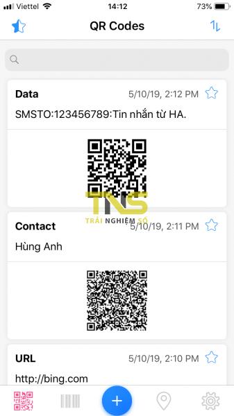 Dùng QRabber xem và tạo mã QR, mã vạch trên iPhone ảnh 3